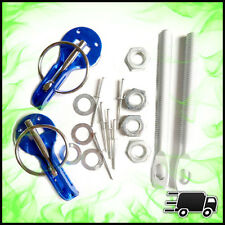 Azul Universal Sombrero Botas Capucha Clips Pin Kit Acero Inoxidable Par Slide Carrera