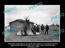 OLD HISTORIC PHOTO OF PINE RIDGE SOUTH DAKOTA, SIOUX INDIAN POLICEMAN c1890
