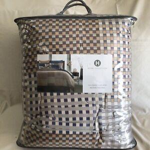 Hotel Collection PATCHWORK GEO FULL/ QUEEN COMFORTER Retail $335