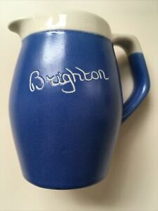 Blue & White Cream Pouring Jug Brighton