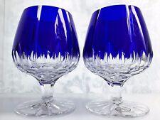 2 AJKA ALBINKA / CASTILLE  Brandy Cognac Snifters Double Cut to Clear Crystal