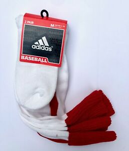 adidas Arch & Ankle Compression Cushioned Baseball Socks size M 5-8.5 (2 Pack)