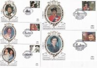 6 FEBRUARY 1992 ACCESSION ALL 5 BENHAM SMALL SILK  BS 16 / 20 FIRST DAY COVERS
