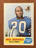 1968 Topps Football Mel Renfro Card #129 EX-NM HOF Dallas Cowboys