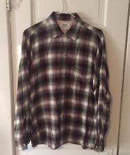 Mint VIntage 1950'S RAYON SHIRT SHADOW PLAID CHEVELLA Arrow ROCKABILLY Medium 33