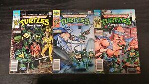 1988 ARCHIE COMICS COMPLETE SET TEENAGE MUTANT NINJA TURTLES ADVENTURES #1-3