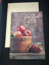Crown Hallmark Father's Day Greeting Card Unused  Dad Basket Apples