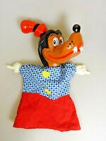 Goofy Handpuppe Gummikopf Gummihämde 60/70er Walt Disney Prod. WDP Vintage