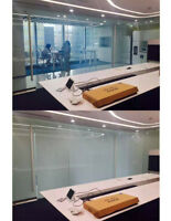 White color Electric Self-adhesive pdlc Film Smart Glass Window Door Tint