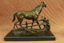 Bronze Horse P.J. Mene. Arabian Mare L'Accolade Sculpture Statue Vintage Figure
