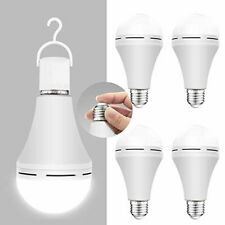 Emergency Rechargeable LED Light Bulb, For Power Failure, 120 with Hook 4-pack