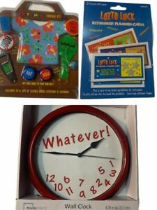 Funny WHATEVER Wall Clock • Retirement Survival Kit • Retirement Planning Cards