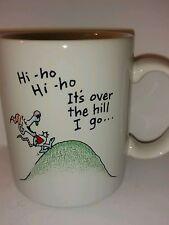 Vintage Shoebox Greetings Hallmark Collectible Coffee Mug Hi Ho Hi Ho It's Over