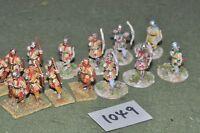25mm roman era / roman - late 14 infantry figs - inf (10049)