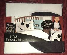 "Jack & Sally Pillowcase Set Nightmare Before Christmas 20"" X 30"" New"