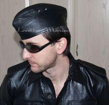 Garrison leather flight cap cuir german army cap side cap