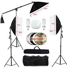 Softboxen Set Soft Box Studioleuchte LED Fotografie Fotostudio Galgen Stativ