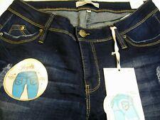 Royalty  Womens 18W Blue Slim Fit Skinny Jeans  Stretch