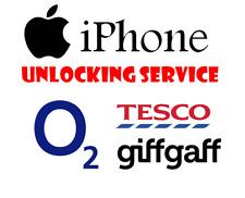 Servizio di Sblocco per Apple iPhone 4 4 S 5 5 S 5 C-O2 Tesco UK sblocco Giffgaff