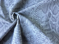 GREY SNAKE SKIN Cotton Poplin Fabric animal print Material - 300cm extra wide