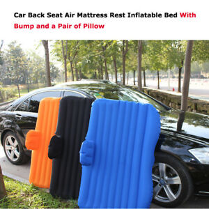 Inflatable Car Back Seat Mattress Rest Inflatable Bed With Bump and Pillow