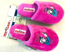 """MONOPOLY BOARD GAME HOT PINK """"GO TO JAIL"""" SLIPPERS NWT! XL 11-12"""