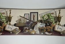 3 Rolls of Hunting Valley Prints Vintage Golf Wall Covering Paper Border