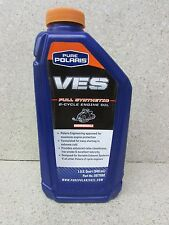PURE POLARIS OEM FULL SYNTHETIC VES 2 CYCLE SNOWMOBILE ENGINE OIL 1 QT 2877882