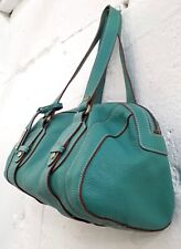 MEMO'S SACCS - Turquoise Pebbled Leather Shoulder Bag -S/M -Excellent Condition