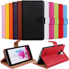 Leather Wallet Stand Flip Card Slot Case Cover For LG G3 V20 G4 G2 G5 G6 Q6 V30