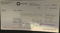PAUL NEWMAN ONE-OF-A-KIND 1984 PERSONAL PAYCHECK FROM WARNER BROTHERS STUDIOS