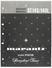 Marantz Model st143/143l original Stereophonic sintonizador Service-Manual/diagram o123