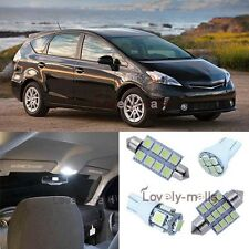 White SMD Car Bulb Light Interior LED Package Kit For Toyota Prius v 2012-2013