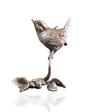 Bird Bronze Miniature Sculpture - Wren - Butler & Peach.