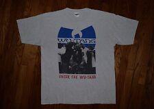 Original 1993 Enter the WU-TANG cream vintage Rap Clan 90s hip hop T-shirt XL