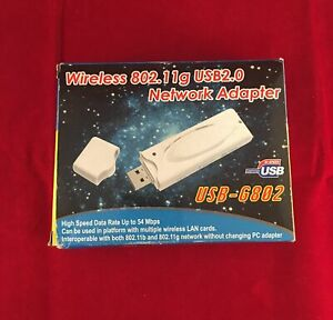 Wireless 802.11g USB 2.0 Network Adapter  Ver.1.0 (High Speed) New (Other):