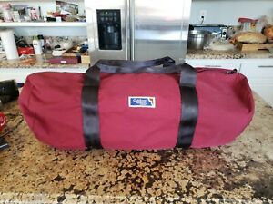 OUTDOOR PRODUCTS Red Maroon Duffel Bag Size Medium Large Made In USA Vintage