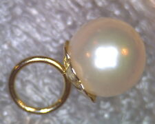 VTG ESTATE 14K SOLID GOLD 5.7 MM AAA QUALITY AKOYA SEA PEARL PENDANT UNUSED NICE