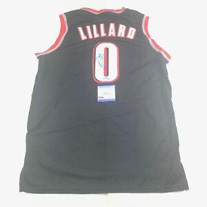 Damian Lillard Signed Jersey PSA/DNA Portland Trail Blazers Autographed