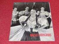 [BALLET DANSE] BALLET HONGROIS 1957 Photographies Programme Alhambra R. VARJASI
