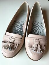 Clarks Cushion Soft Designer Ladies Court Brogue Flat Shoe Leather Size 5 D 38