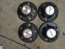 "85-93,94 GMC Safari Van Black OEM Center Caps! Set of 4 for Steel 15"" Wheels"