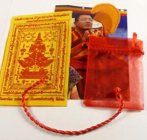 1 x SAI SIN Sacred RED CORD BUDDHA BRACELET blessed Buddhist Monk Luck PHA YANT.