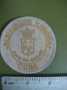 Floridita ,CUNA DEL DAIQUIRI Badge,Patch Havana Cuba Restaurant,Bar Tender rare!