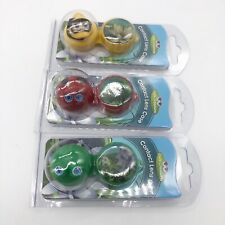 3 NEW Cute Creatures Animal Contact Lens Case- Frog, Duck, Lady Bug Kid Friendly