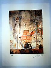 Salvador Dali Litografia 50 x 65 Bfk Rives Timbro a secco Firmata a Matita D061