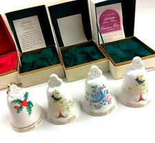 Vintage Noritake Christmas Bell 1974 1973 (x2) 1972 Bone China Ornament Lot of 4