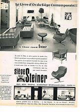 PUBLICITE ADVERTISING 024   1961   SIEGES STEINER