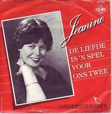 """""""7"""" - JEANINE - De Liefde is `n spel voor ons twee - sehr RAR !!!"""