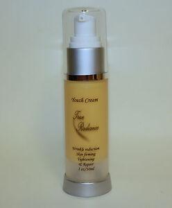 Youth Cream 1oz 69% Actives  4% Ubiquinone Argireline DMAE Vit. C True Radiance